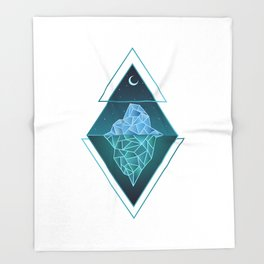 Iceberg Geometric Throw Blanket