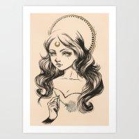 Lua Art Print