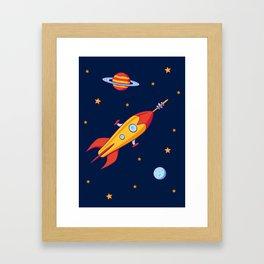 Spaceship! Framed Art Print
