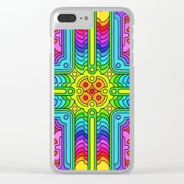Deconstructed Spinners Clear iPhone Case
