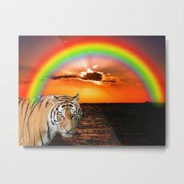 Fantasy Tiger Metal Print