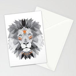 Boho poly lion Stationery Cards