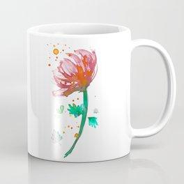 Warm Watercolour Fiordland Flower Coffee Mug