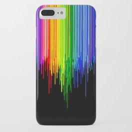 Rainbow Paint Drops on Black iPhone Case
