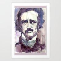 edgar allan poe Art Prints featuring Edgar Allan Poe by Germania Marquez