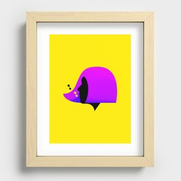 She Sings (Yellow) Recessed Framed Print