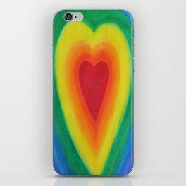 Rainbow Heart Love with Purple iPhone Skin