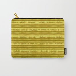 Tribal Markers on Golden Brown Stripes Carry-All Pouch