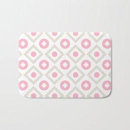 Pink pastel pattern of rhombuses and circles Bath Mat