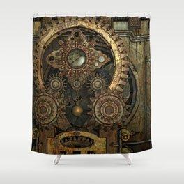 Rusty Vintage Steampunk Gears Shower Curtain