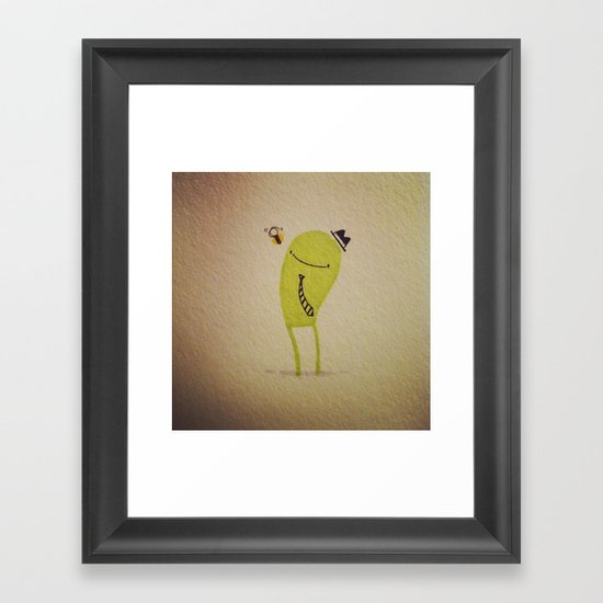 Gerald & the bee Framed Art Print