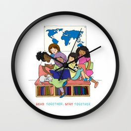 Read Together Stay Together Wall Clock