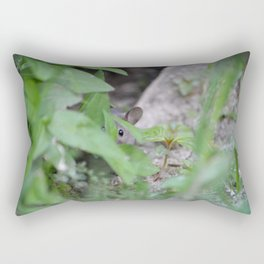 Peek-A-Boo, Mousie Rectangular Pillow