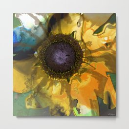 Modern Flower Art - Untamed Beauty - Sharon Cummings Metal Print