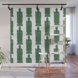 Zen:  Kelly Green + Mint Buddha Wall Mural