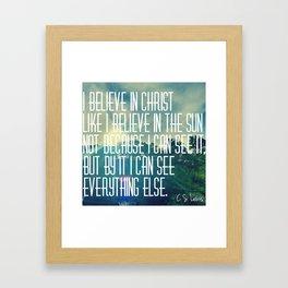 CS Lewis Framed Art Print