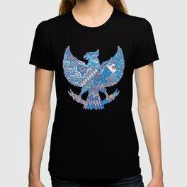 batik culture on garuda silhouette illustration T-shirt