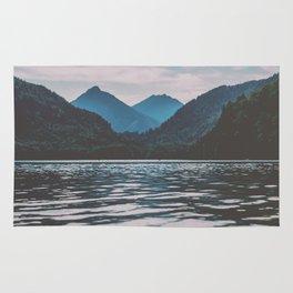 Bannwaldsee, Schwangau  lake in Bavaria Germany Rug