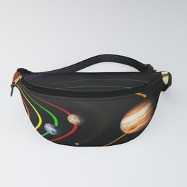 Solar System, the Sun, Planets, & Kuiper Belt by Image Editor Fanny Pack