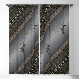 Elk Spirit (Gray) Blackout Curtain