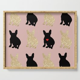 Dazzling French Bulldogs Serving Tray