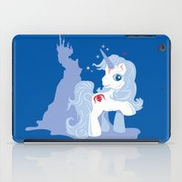 the last unicorn iPad Cases featuring My Little Last Unicorn by Ashley Hay