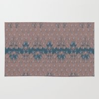 renaissance Area & Throw Rugs featuring Renaissance - Peach by Abbie Clark Designs