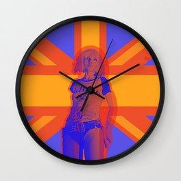 Blondie in blue Wall Clock