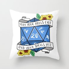 May Your Rolls Crit and Your Spells Hit Throw Pillow