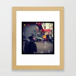 BUBBLE MAN Framed Art Print