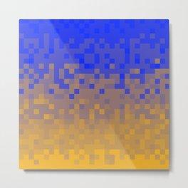 Pixel colour Metal Print