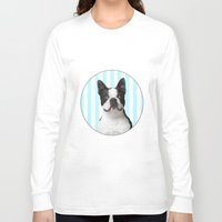 boston terrier Long Sleeve T-shirts featuring Boston Terrier by jampot gallery