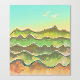 Magic Flight over the Sea of Clouds Canvas Print