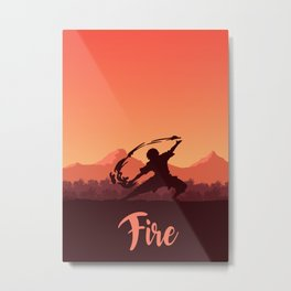 Firebender Metal Print