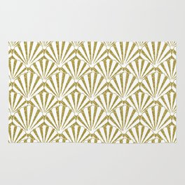 Gold Glitter shells Rug