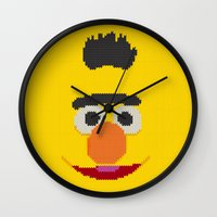 knit Wall Clocks featuring Knit Bert by colli13designs