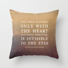 IV. Anything essential is invisible to the eyes. Throw Pillow