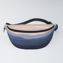 Pastel Sunset Over the Mountains Fanny Pack