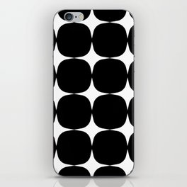Retro '50s Shapes in Black and White iPhone Skin