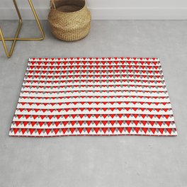 embers geometric pattern Rug