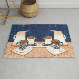 Coffee for Two Drawing by Amanda Laurel Atkins Rug