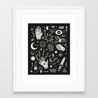 witch Framed Art Prints featuring Witchcraft by LordofMasks