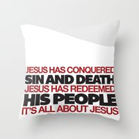 easter Throw Pillows featuring Easter by Trey VanCamp