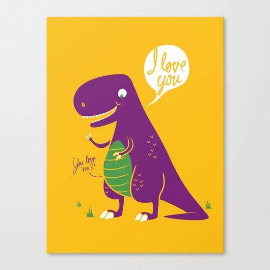 The Friendly T-Rex Canvas Print