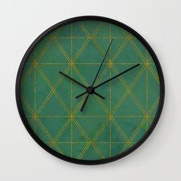 gold diamond print Wall Clock