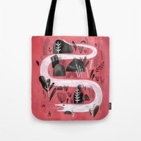 snake Tote Bags featuring Snake by Maggie Chiang
