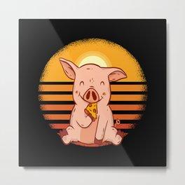 Pig funny Metal Print