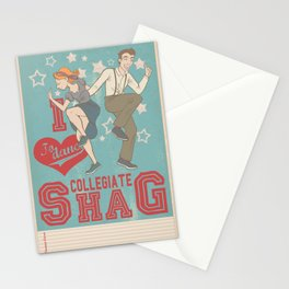 I Love to dance... Collegiate Shag Stationery Cards