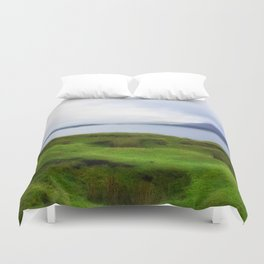 green grass carpet Duvet Cover