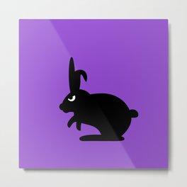 Angry Animals: Bunny Metal Print